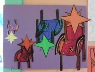 """Travail sur Pablo Picasso : """" Nature morte à la chaise cannée """"."""