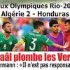 eudi 4.8.2016 à Rio Honduras-EN 3-2  jeux Olympiques.Chal rate son match