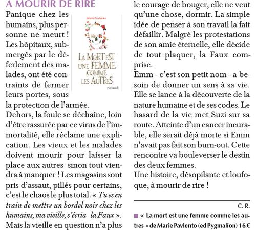 article publié dans le Paris Normandie en novembre 2015