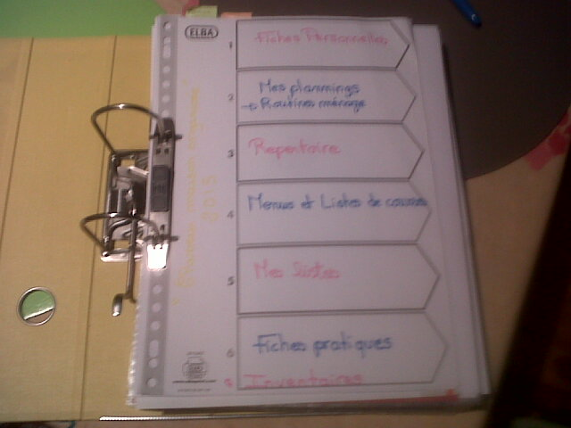 Favori Le classeur maison - Mademoiselle s'organise OA03