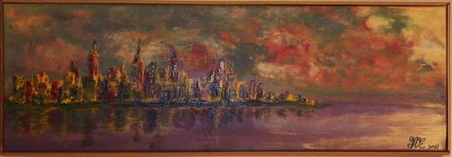 TABLEAUX peints par Gratienne VOISIN ELOY en HOMMAGE AUX VICTIMES DES ATTENTATS DU 11 SEPTEMBRE 2001 à NEW YORK