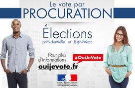 Elections présidentielles et législatives 2017 - Vote par procuration