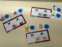 Les droites graduées Pokemon