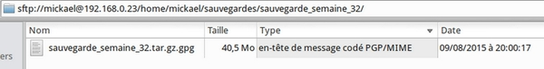 Script de sauvegarde avec tar/gzip et chiffrement GPG