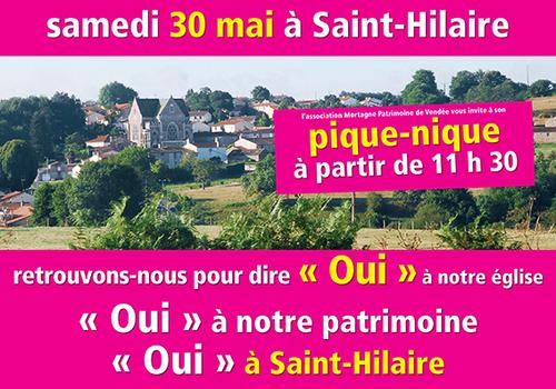 Mobilisation pour l'église de Saint-Hilaire-de-Mortagne....