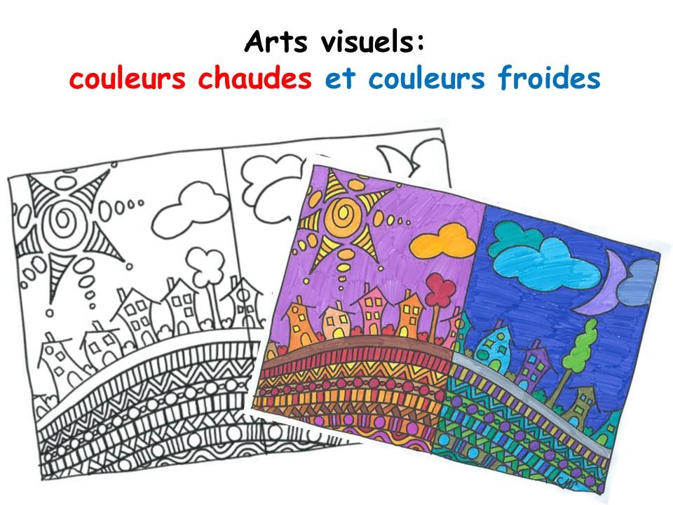 Arts visules : couleurs chaudes et couleurs froides - A la grande école