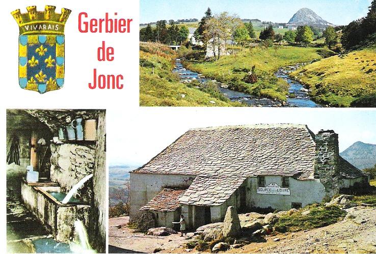 mont gerbier de jonc carte La carte postale : Mont Gerbier de jonc.