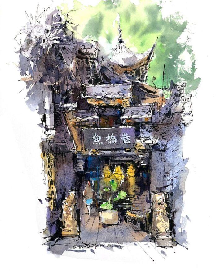 Le Charme des vieilles Villes asiatiques selon  Zhifang Shi (7)