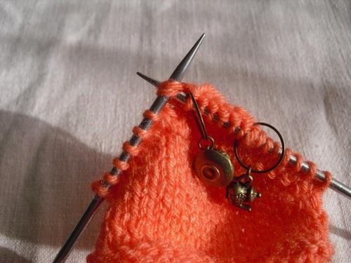 Tricoter ses chaussettes : talon deuxième partie - étape 4
