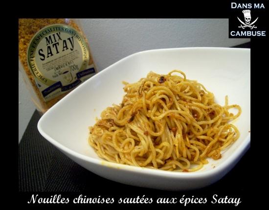 nouilles chinoises satay