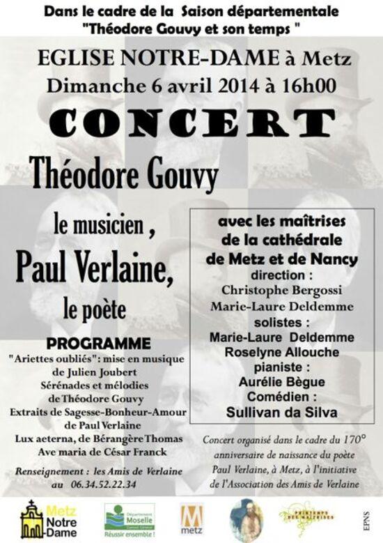 Théodore Gouvy et Paul Verlaine à l'église Notre-Dame