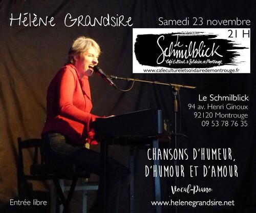 Prochain concert : 23 novembre à Montrouge (92) à 21 H