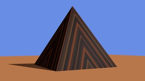 La pyramide mappé avec la seconde texure