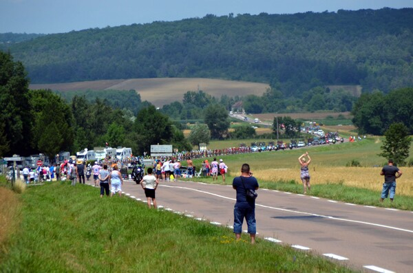 Le passage du Tour de France à Courcelles