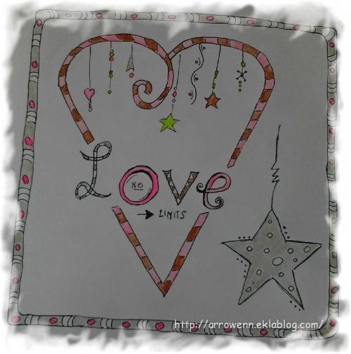 doodle art : heart