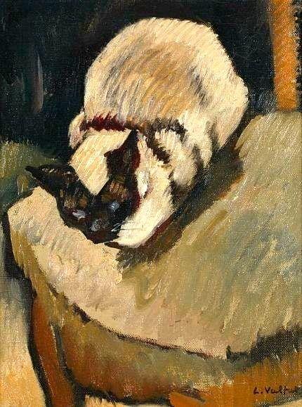 Le tableau du samedi : Le chat siamois - Henri Valtat