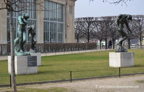 5 mars 2012 Les Tuileries Sculptures Rodin 1