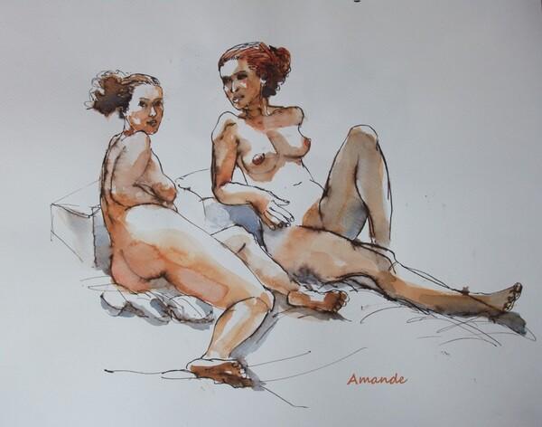 Lundi - Deux poses allongées