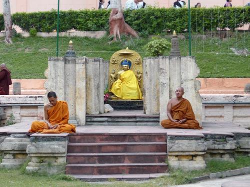 Bodhgaya; Mahabodhi temple; vue générale du site
