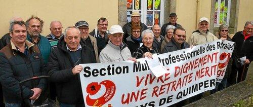 Jeudi 10 mars 2016-Les retraité(e)s dans la rue en Finistère et partout en France !