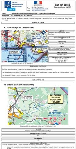 Info alerte espaces aériens 2019/2020