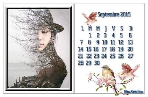 Le calendrier du mois ♥ Septembre 2015 ♥