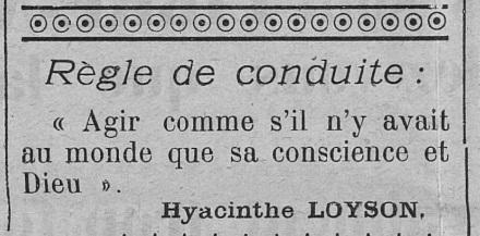 Règle de conduite (Le Fraterniste, 27 juin 1913)