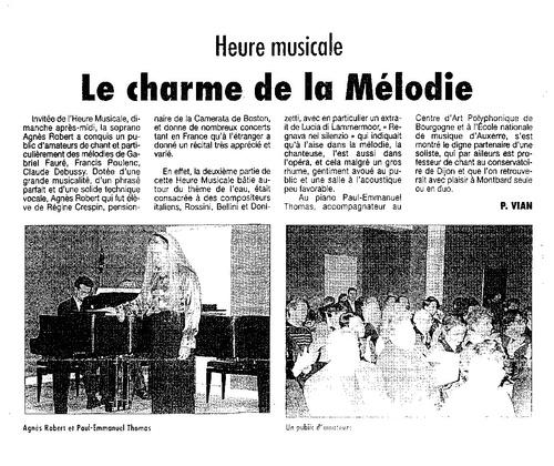 Concert Montbard - L'Eau