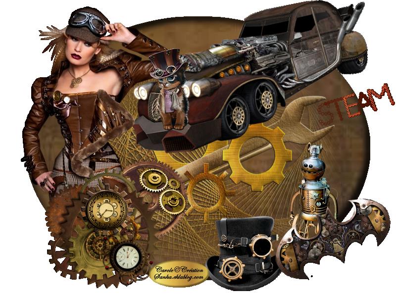 Ma création steampunk défi Café des Artistes.