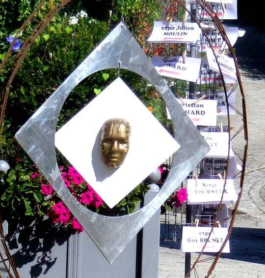 Pile ou face ?  A accrocher dans votre jardin. Expo d'un cérasmiste dans un des plus beaux villages de France St Ceneri le Gerei Orne