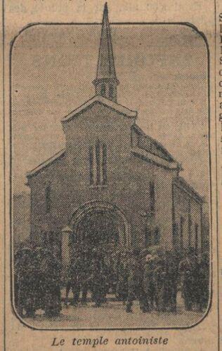 Temple antoiniste de Paris lors de la Fête de Père en 1924 (Le journal, 26 juin 1924)