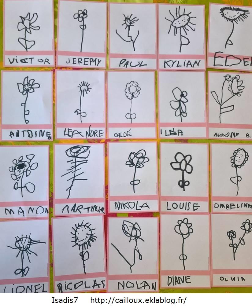 Apprendre dessiner des fleurs la maternelle d 39 isadis7 - Fleur a dessiner ...