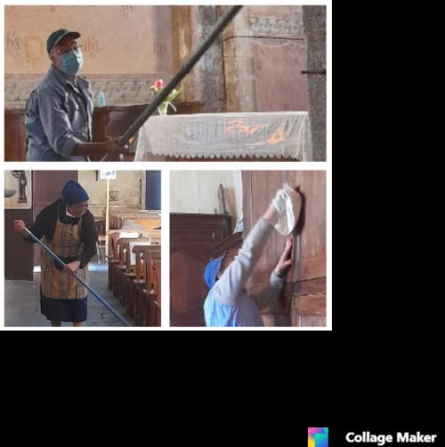 Le RPP nettoie l'église d'Huriel