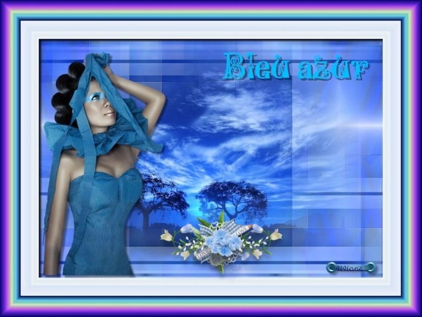 Cascade et Bleu azur