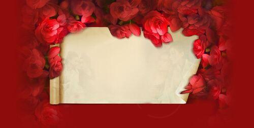 St Valentin fond et bannières