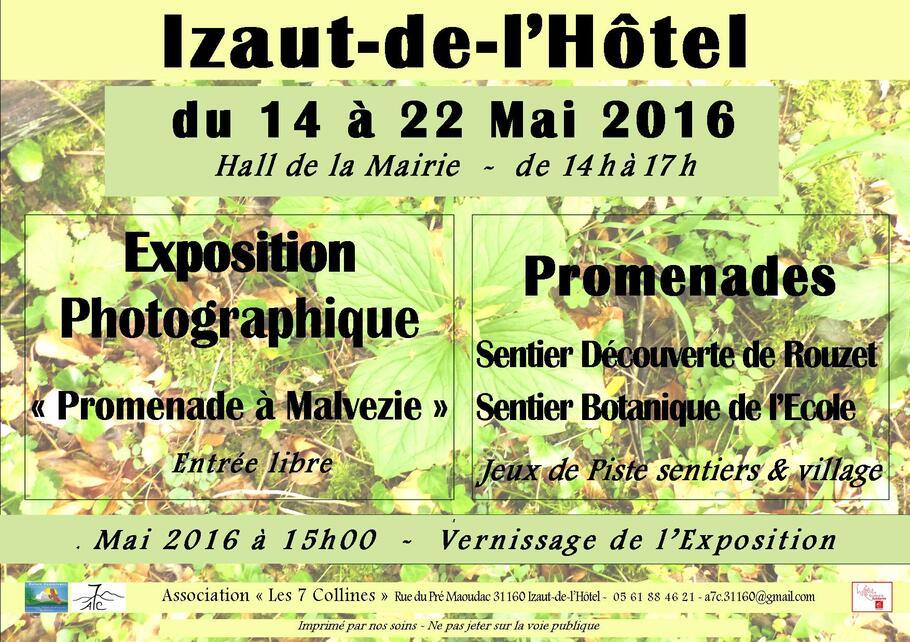 2016 du 14 au 22 mai : Exposition - Promende et Jeux de piste