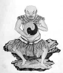 Pan Gu créant le monde