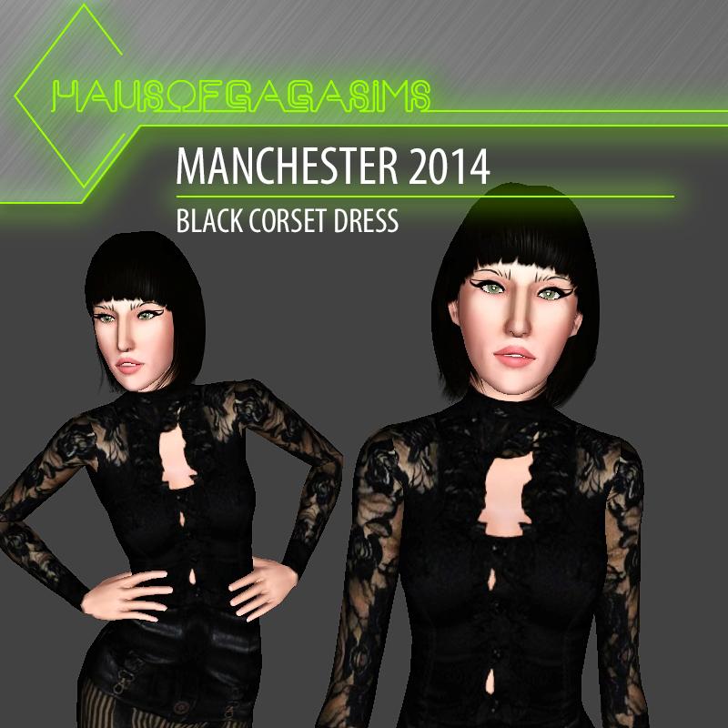MANCHESTER 2014 BLACK CORSET DRESS