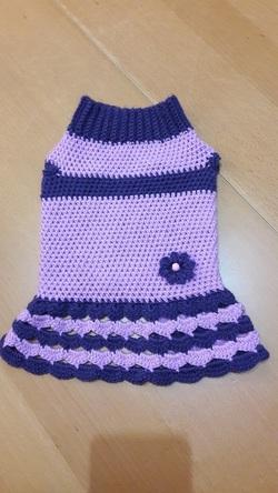 Petite robe lila et mauve pour Bella