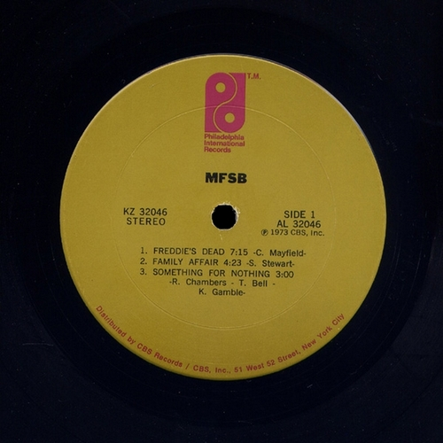 "1973 : MFSB : Album "" MFSB "" Philadelphia International Records KZ 32046 [ US ]"