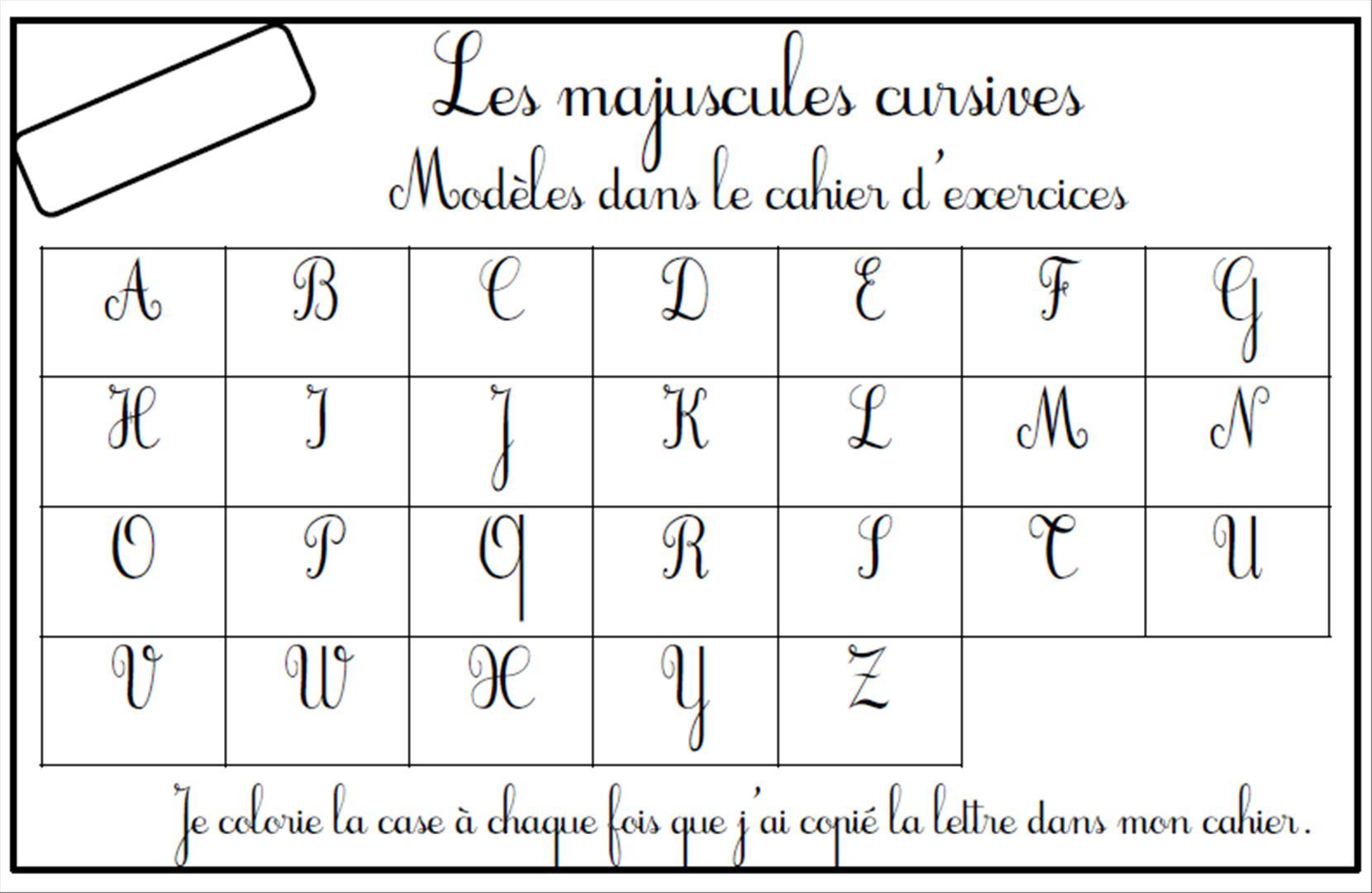 lettres majuscules cursives rugueuses loustics - Lettre Majuscule A Imprimer
