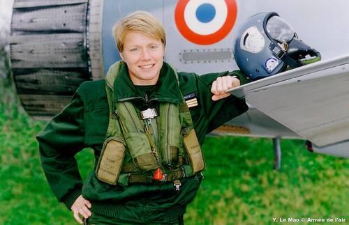 Caroline Aigle première femme pilote de chasse au sein de l'armée de l'Air.