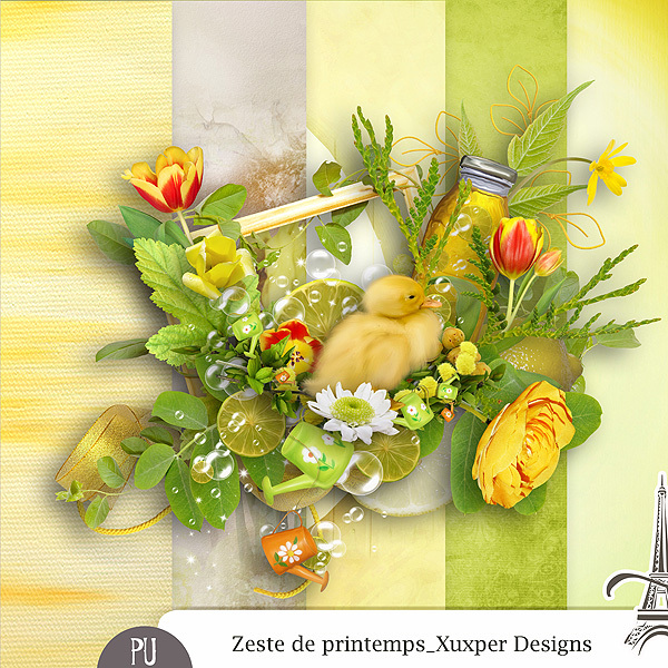 Zeste de printemps mini kit de Xuxper Designs