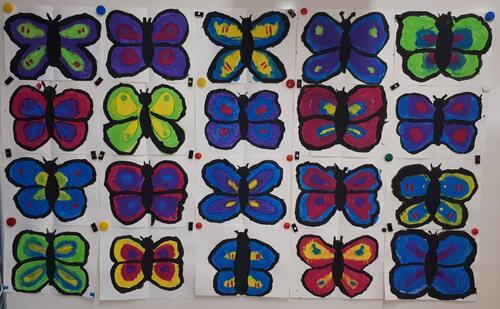 Des papillons symétriques
