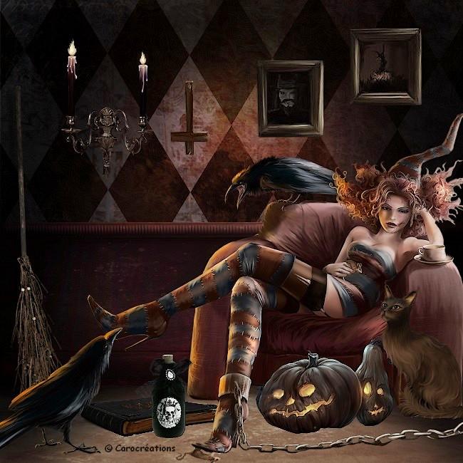 la sorcière enchaînée
