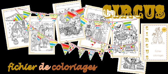 CIRCUS, fichier de coloriages