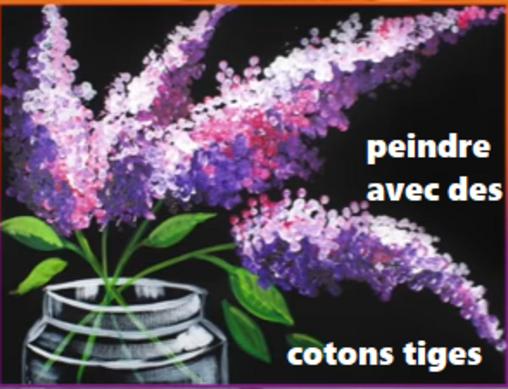 Dessin et peinture - vidéo 2728 : Comment peindre avec des cotons-tiges ? - acrylique, huile.