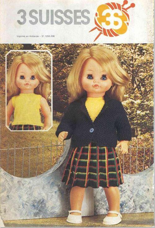 Alycia..robe tricot poupée 35 /40 / 45 cms