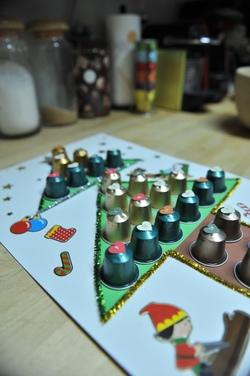 Calendrier de l'Avent à base de capsules de café