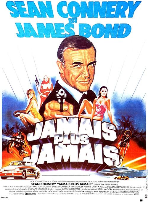 JAMAIS PLUS JAMAIS -NEVER SAY NEVER AGAIN - SEAN CONNERY BOX OFFICE 1983
